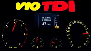 VW V10 TDI 0-200 Acceleration Autobahn Onboard Sound R50 Volkswagen Turbo Diesel