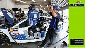 Junior back in action at Daytona
