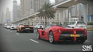 Escorted by Dubai Police Supercars!