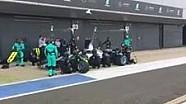 F1-Boxenstopp mit Mercedes