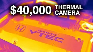 $40,000 Thermal camera - Watching engines warm up