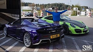My 675LT Spider arrives to meet the GT Street R in Germany