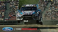 Ford Focus RS RX and Hoonigan racing Take 3rd in Barcelona