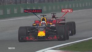 GP de Chine - Le dépassement de Vettel sur Ricciardo
