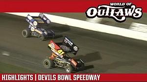 World of Outlaws Craftsman sprint cars Devils Bowl Speedway April 14, 2017 | Highlights