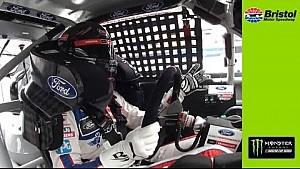 Ryan Blaney loses power steering at Bristol