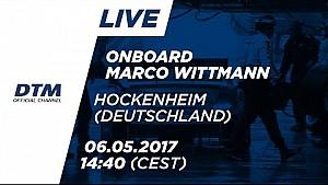 Marco Wittmann (BMW M4 DTM) - Araç Üstü 1. Yarış - DTM Hockenheim 2017
