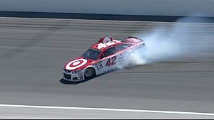 Kansas: Crash von Kyle Larson