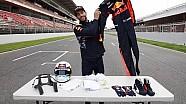 Kleidung eines F1-Fahrers