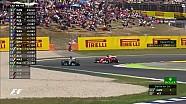 2017 İspanya GP - Hamilton Vettel'i Geçiyor