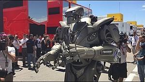 Un robot en el paddock - GP de España - Scuderia Toro Rosso