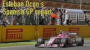 Ocon over vijfde plaats in Barcelona