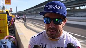 阿隆索印地500大赛练习赛赛后专访