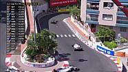 2017 Monaco GP  - Perez-Kvyat ile Çarpışıyor