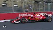 2017 Azerbaycan GP Sıralama - Vettel'de Pist Dışına Çıkıyor