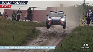 Rallye de Pologne - La première journée de Hyundai