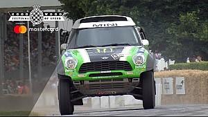 El Mini de Hirvonen en el Dakar ataca en Goodwood