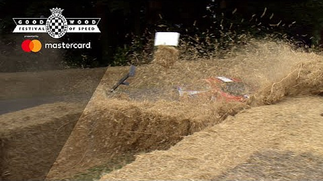 Goodwood: Ferrari 458 GT2, Crash