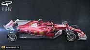 Ferrari SF70H en comparación con el SF16H