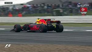 Verstappen pist dışına çıkıyor - 2017 Britanya GP sıralama