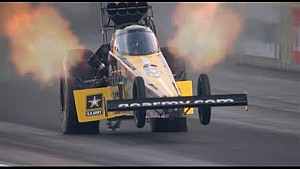 Tony Schumacher goes wheels up in Denver