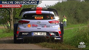 Rally Germany shakedown - Hyundai Motorsport 2017