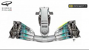 Mercedes F1 W08: Frontflügel-Evolution