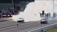 Deric Kramer wins round 4 of the Pro Stock battle of the Burnouts