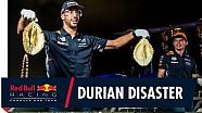 Verstappen en Ricciardo: de Durian Challenge