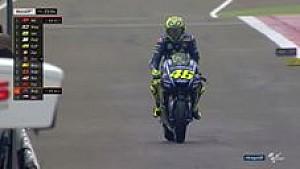 Rossi kembali ke lintasan MotoGP setelah cedera