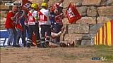 Marquez terjatuh saat merayakan kemenangan #AragonGP