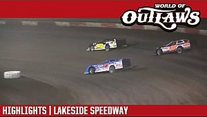 World of Outlaws Craftsman late models Lakeside speedway September 22, 2017 | Highlights