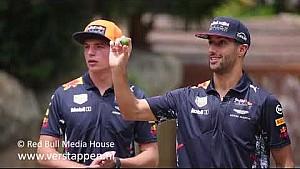 Max Verstappen and Daniel Ricciardo make mocktails: Shaken 'n' stirred, 29/09/2017