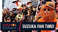 Cómo decir te quiero. ¡Una época de fan de Daniel Ricciardo y Max Verstappen en Japón!