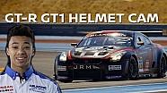 Nissan GT-R GT1 test drive: cámara de casco