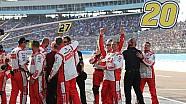 Matt Kenseth's pit crew crashes press conference to celebrate
