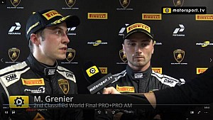 Lamborghini Super Trofeo World Final Pro+Pro Am Race 1 - Interview with Grenier and Spinelli