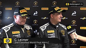 Lamborghini Super Trofeo World Final AM+LC Race 2 - Interview with Leimer and Laurent