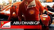 Dans les coulisses de Ferrari à Abu Dhabi