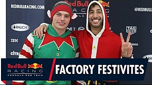 Factory festivities | Daniel and Max visit the factory ahead of the holidays