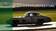Le Mans legend Jochen Mass pushes Gullwing at Revival