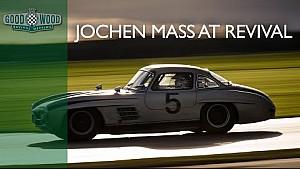 Le Mans legend Jochen Mass pushes Gullwing at Revival
