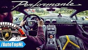 Тести Lamborghini Huracan Performante на автобані