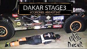 Tim en Tom Coronel overnachten in woestijn: Dakar Etappe 3