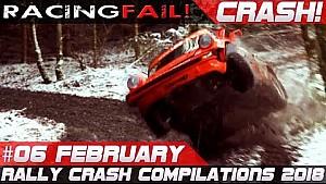 Rally crash compilation week 6 February 2018