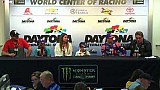 Denny Hamlin gets choked up alongside boy he inspired to race