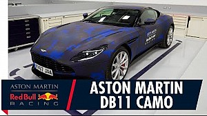 Aston Martin DB11 con decoración de Red Bull