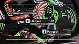 De startopstelling voor de MotoGP Grand Prix van Qatar