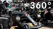 L'équipe Mercedes à 360 degrés