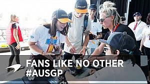 Les fans de McLaren au GP d'Australie